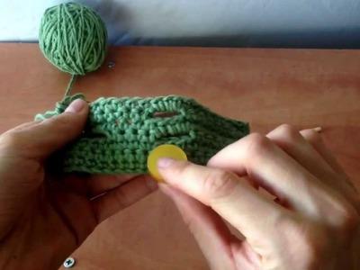 How to crochet button holes