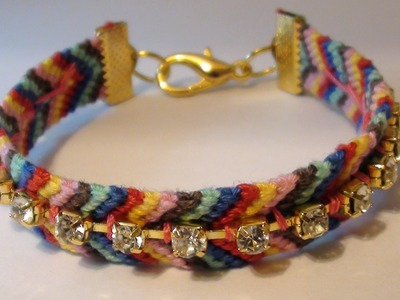 How to: DIY Rhinestone Friendship Bracelet