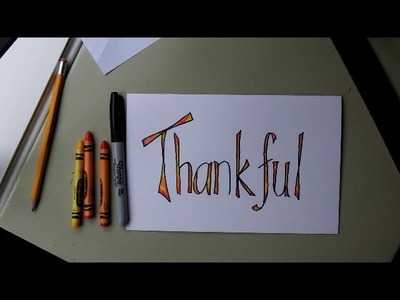 How to Make a Thanksgiving Card. Place Setting Card. Scrapbook lettering- Easy Lesson