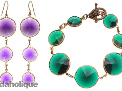 How to Make a Vintage Lucite Rivoli Bracelet and Earring