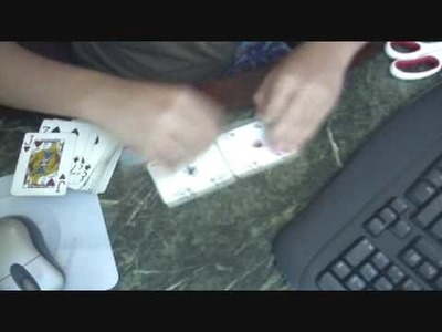 How to make a wallet out of playing cards part 1
