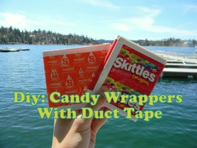 How To Make Candy Wrapper Crafts With Duct Tape (Candy Wrapper Base)
