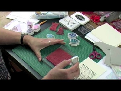 How to mount and use Crafty Individuals red rubber art stamps by Jean Hardy