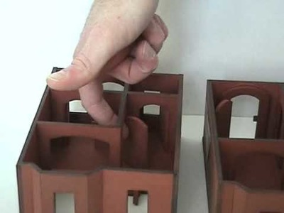 Miniature 2 Story House for 28mm Tabletop Games