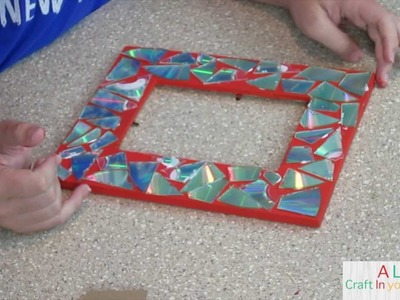 Mosaic CD Frame : DIY TEEN CRAFT!