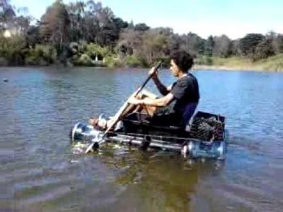 My  homemade plastic boat.water craft. raft