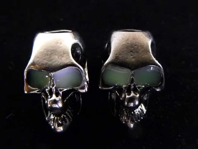 Night Stalker Skull Beads With Glow In The Dark Eyes