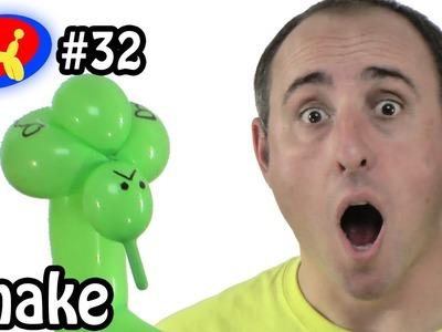 One Balloon Snake - Balloon Animal Lessons #32