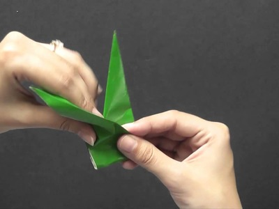 Origami in Gujarati - How to make a Leaf