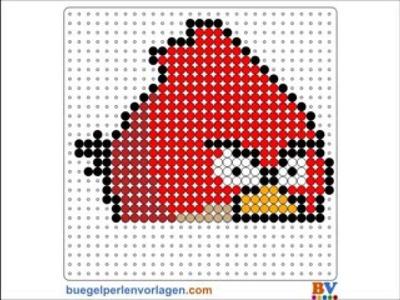 Plantillas Hama Beads Tutorial - Angry Birds