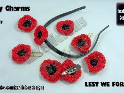 Rainbow Loom - Amigurumi Crochet Poppy for Veteran's.Remembrance Day Loom-less.Hook only Version 2