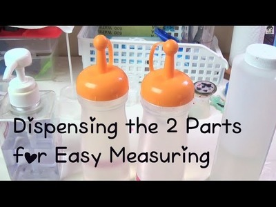 Resin Craft Guide #2 Dispensing the 2 Parts for Easy Measuring