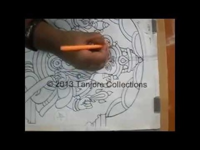 Tanjore painting | Tutorial | DIY | Learn how to make tanjore painting step by step
