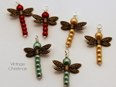 Tutorial -Beaded Dragonfly Pendant Charms