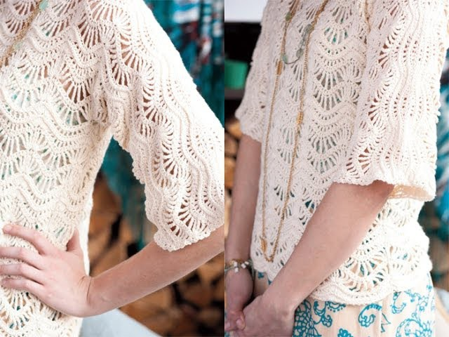 #15 Lace Pullover, Vogue Knitting Crochet 2012