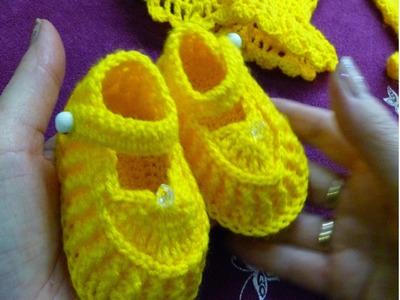 1ч.Пинетки туфельки крючком для новорожденного.Crochet and knitting(hobby)