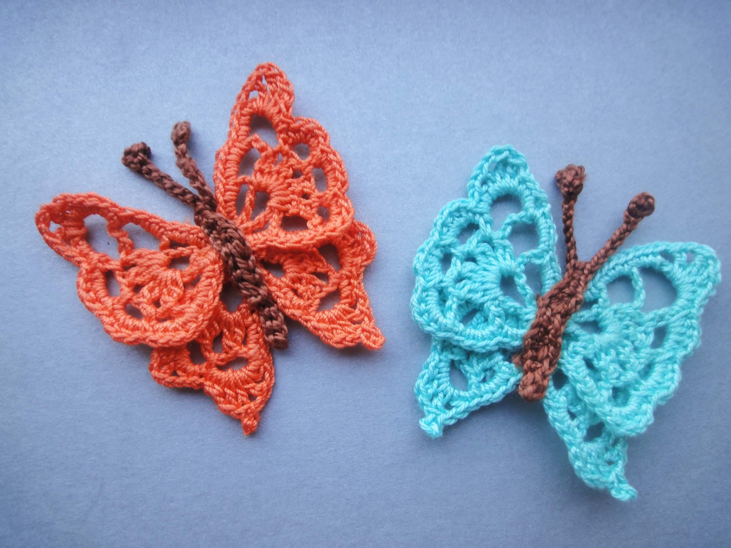 БАБОЧКА  BUTTERFLY Crochet