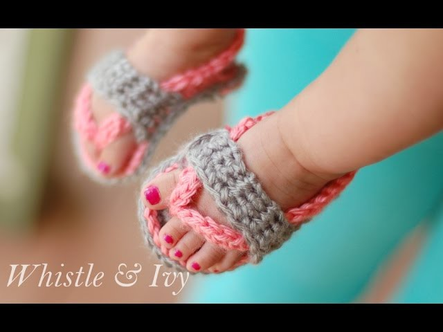 Baby Flip Flops Crochet Pattern  {Whistle and Ivy}