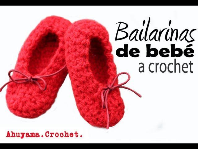 Bailarinas para Bebé a Crochet - Paso a Paso