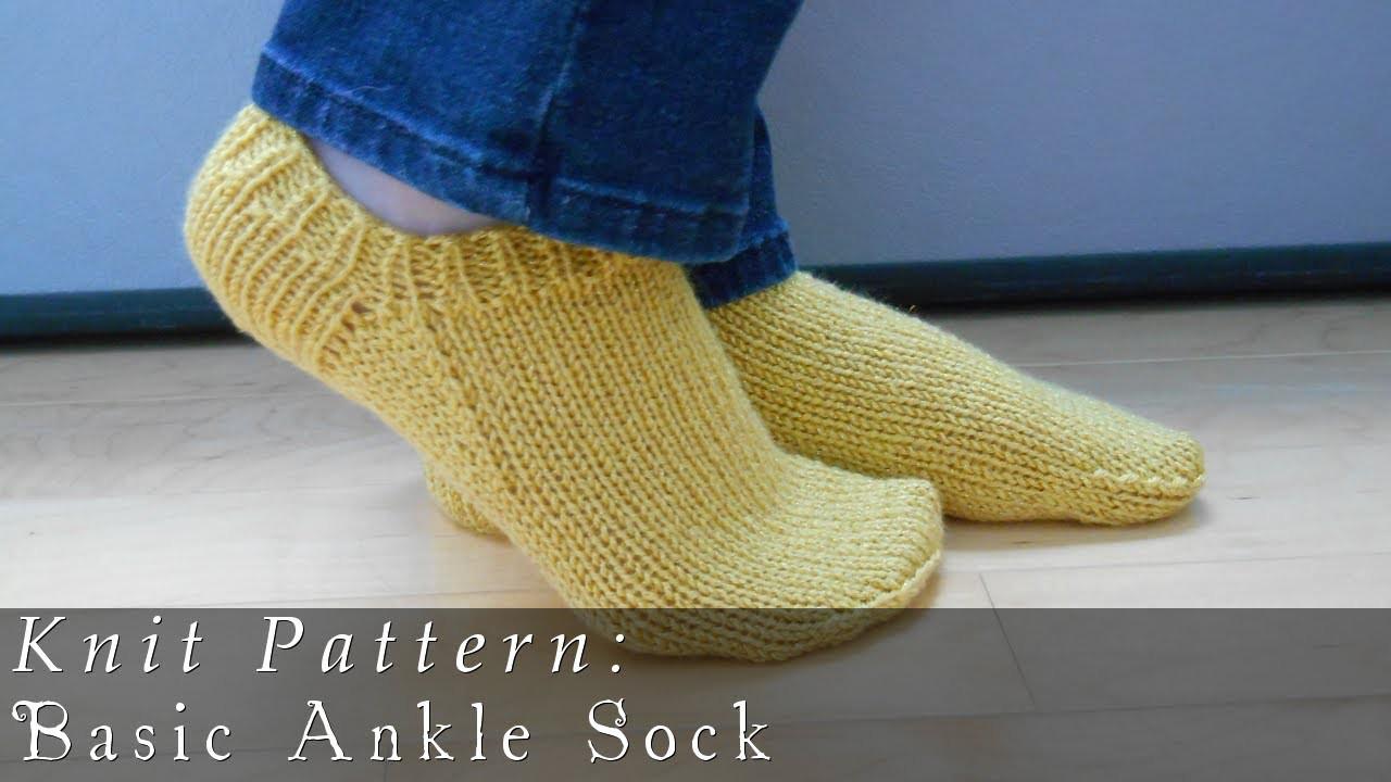 Basic Ankle Sock  |  Knit Pattern