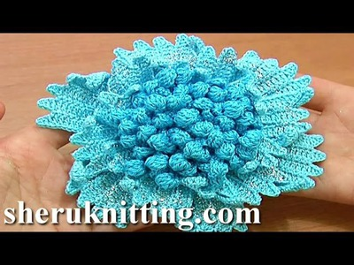 Big Flower to Crochet Tutorial 61 Part 1 of 3 Crochet Stamens Center