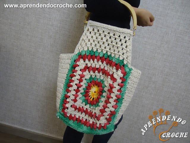 Bolsa de Crochê Festas Natalinas - Aprendendo Crochê