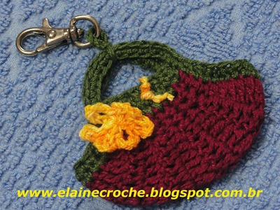 CROCHE - BOLSA MINI FAT BAG CHAVEIRO