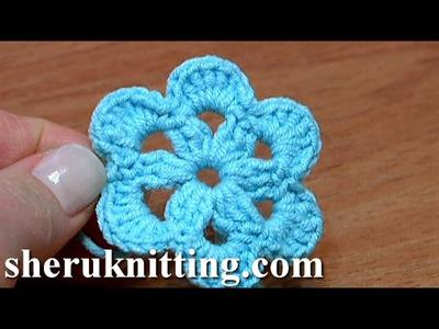 Crochet 6-Petal Flat Flower Tutorial 27 Patterns Crochet Fiore