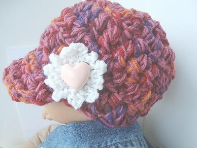CROCHET A NEWSBOY HAT