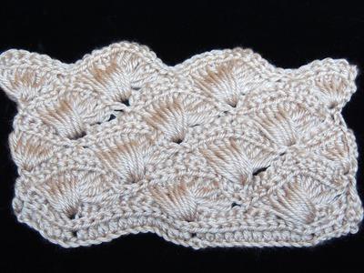 Crochet : Abanico Cruzado.  Parte 1 de 2