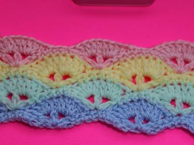 #Crochet Baby Blanket Pattern (subtitulos en Espanol)