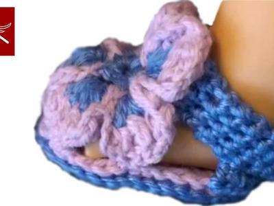 Crochet Baby Bootie Slipper Tallulah Crochet Geek