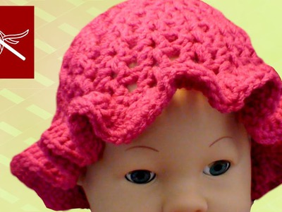 CROCHET BABY CAP CIPRESO WITH RUFFLE Crochet Geek