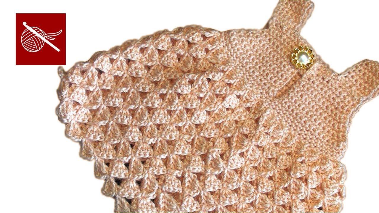 Crochet Baby Dress Abigail with Straps Crochet Geek