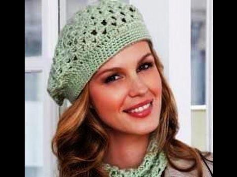 Crochet easy beret - Redheart pattern LW2741