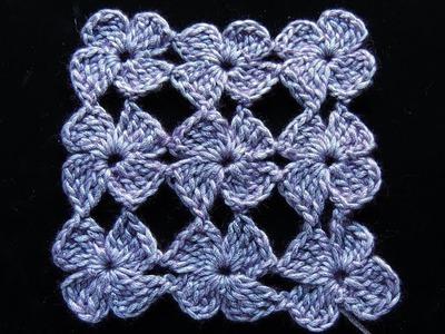 Crochet : Flor de 4 Petalos.  Parte 1 de 2