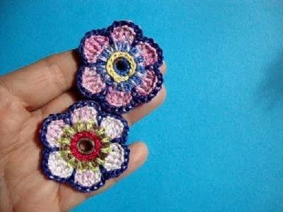 Crochet flower pattern, Цветы Вязание крючком 62