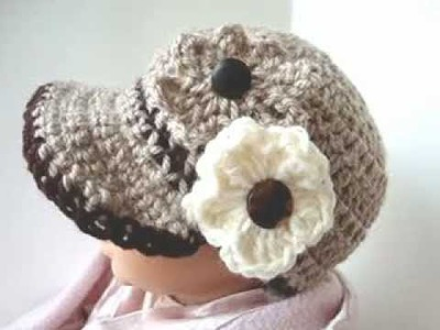 CROCHET PATTERN, ASHTON NEWSBOY CAP, how to crochet a hat