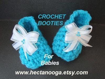 CROCHET PATTERN, LITTLE BLUE BABY BOOTIES
