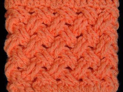Crochet : Punto Entrecruzado (Tejido de Cesta)