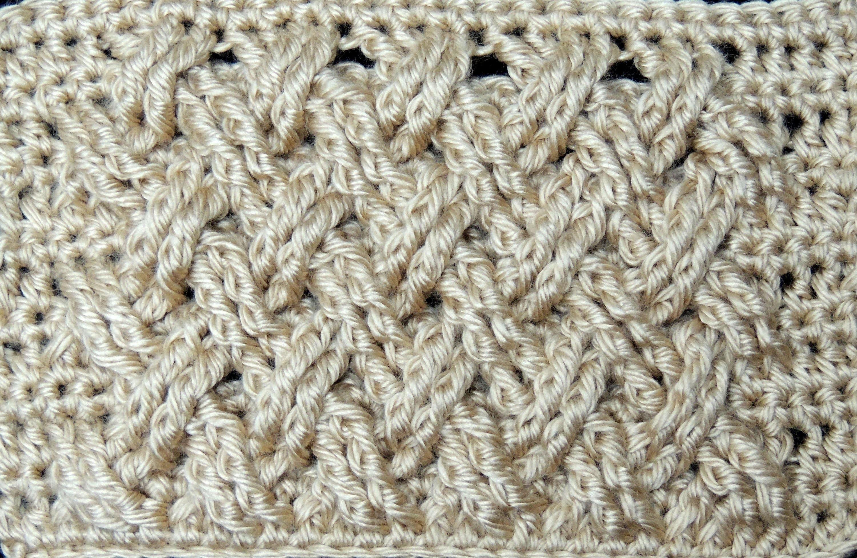 Crochet : Punto Entrecruzado Plano