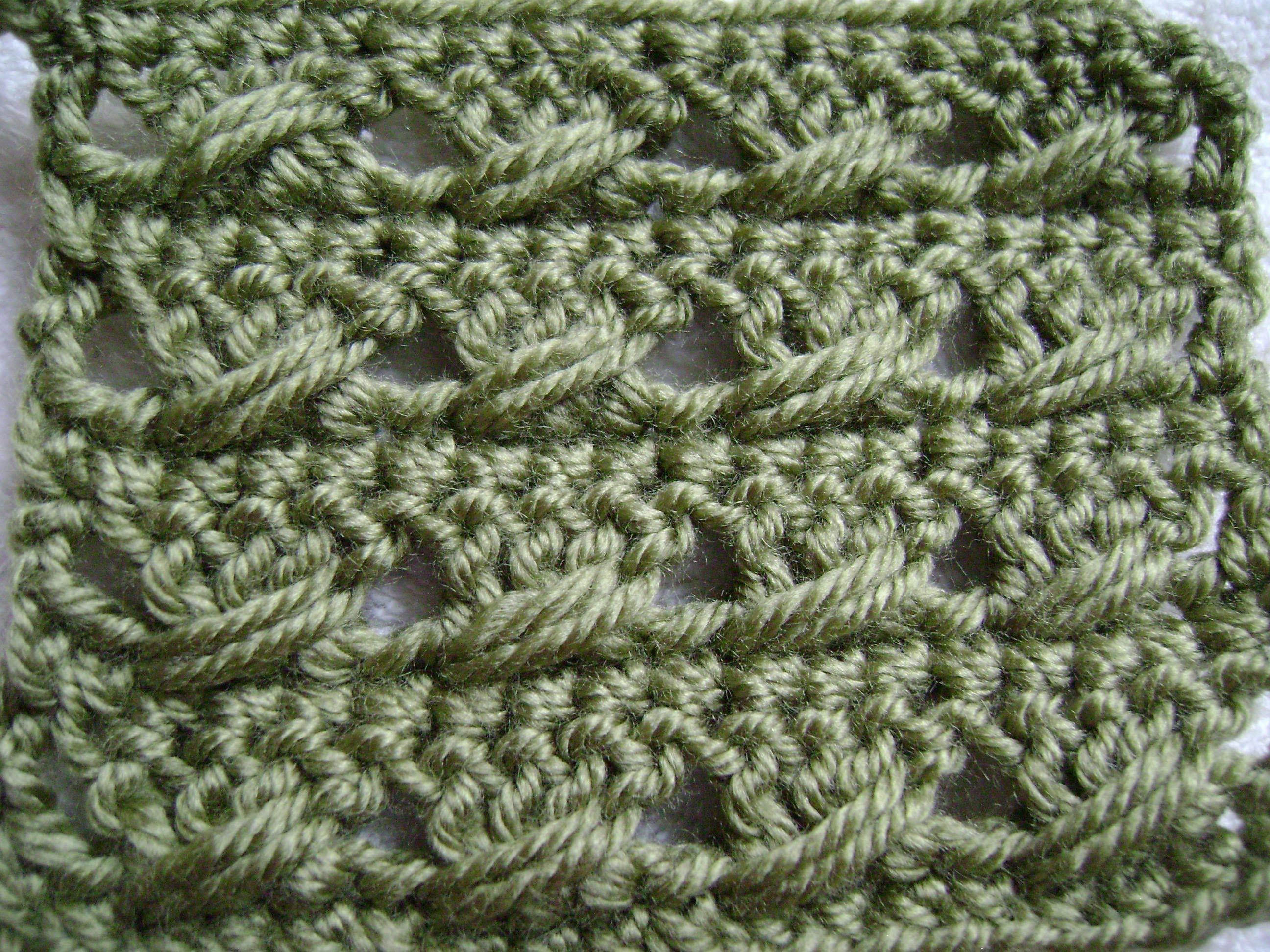 Crochet the Double Crochet with a Twist  Pattern