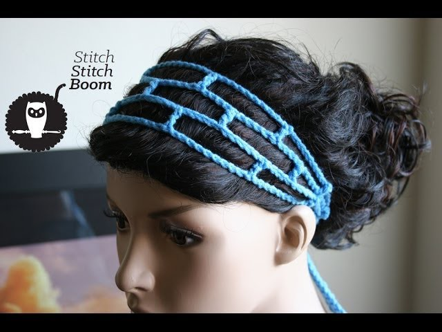 Crochet Tutorial: Mesh Headband (Great for beginners!)