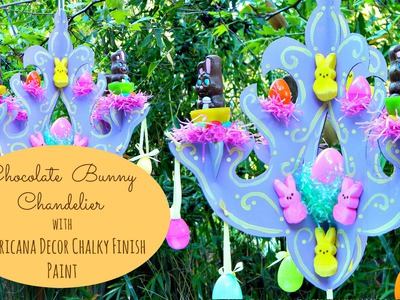 DIY Easter Chandelier