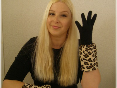 DIY Fashion Accessories -  Repurpose or Revamp Knit Gloves