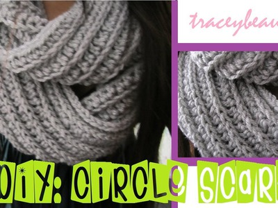 DIY: Knit-Like Circle Scarf(Crochet Tutorial)