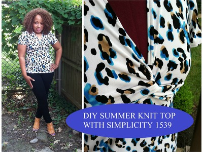 DIY Summer Knit top with Simplicity 1539