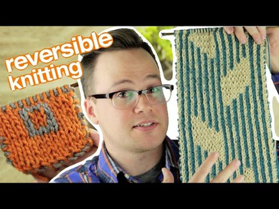 Double Knitting: How to Knit a Reversible Scarf