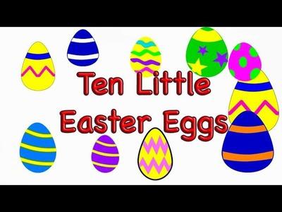 Easter Preschool Song -Ten Little Easter Eggs - LittleStoryBug