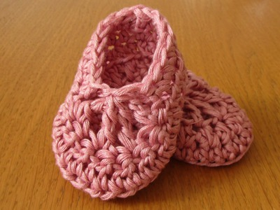 EASY crochet baby ballet slippers - dainty crochet baby booties. shoes